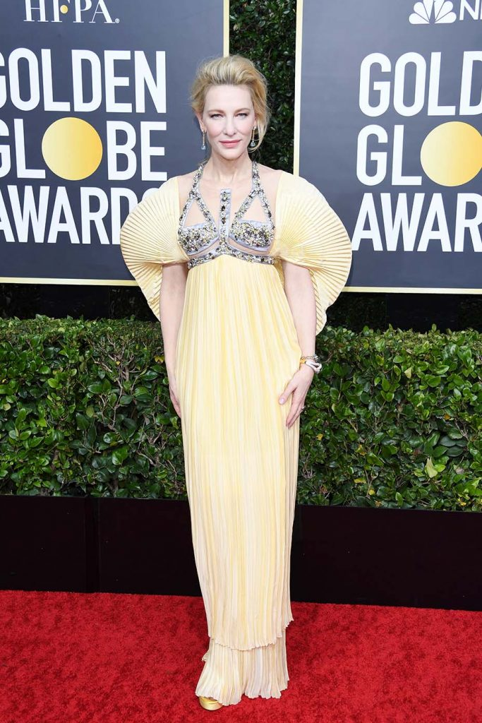 BEVERLY HILLS, CALIFORNIA - JANUARY 05: Cate Blanchett attends the 77th Annual Golden Globe Awards at The Beverly Hilton Hotel on January 05, 2020 in Beverly Hills, California. (Photo by Daniele Venturelli/WireImage)