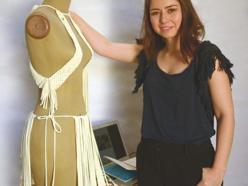 Natalia Botero, además de diseñadora es pintora.